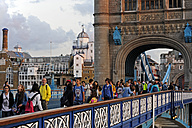UK, London, Tower Bridge looking towards the South Bank - MIZ000664