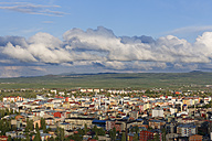 Turkey, Kars Province, Kars, view to city from citadel - SIEF006251