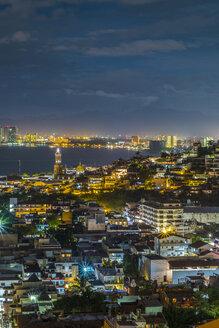 Mexico, Jalisco, Puerto Vallarta at night - ABAF001581