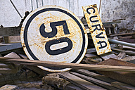 Spain, Aragon, Province, Huesca, Railway Station Canfranc, old signs - LAF001215
