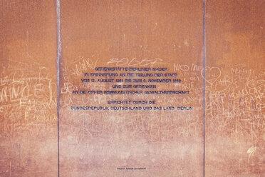 Germany, Berlin, Berlin Wall Memorial at Bernauer Strasse - MEM000487