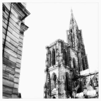 Cathedral of Strasbourg, landmark of the city, Strasbourg, France - MEMF000493