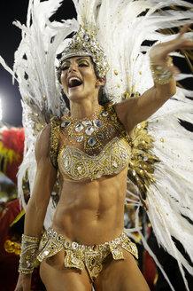 Brazil, Rio de Janeiro, Sambodromo, Carnaval, parade of samba school Academicos do Grande Rio - FLK000548