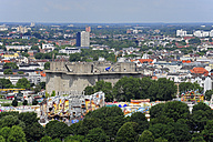 Germany, Hamburg, cityscape with bunker - MIZF000735