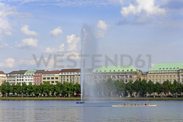 Germany, Hamburg, Binnenalster and Ballindamm - MIZF000739