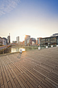 Germany, Dusseldorf, Media Harbour, Old warehouses at Julio Levin Ufer - MEMF000516