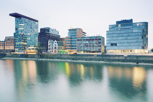 Germany, Dusseldorf, Media Harbour, Old warehouses at Julo Levin Ufer - MEMF000536