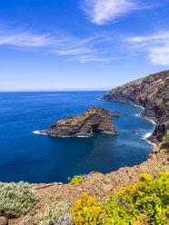 Spain, Canary Islands, La Palma, cliff coast at Garafia - AMF003256