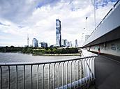 Austria, Vienna, Danube City, DC Tower 1 and Reichsbrucke - DISF001091
