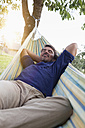 Relaxed mature man in hammock - RBF001972