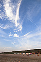 Netherlands, Bloemendaal, beach and sky with clouds - FCF000517