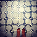 Boots on tiled floor - LVF002341