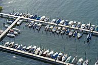Germany, Baden-Wuerttemberg, Lake Constance, Constance, aerial view of marina - SHF001696