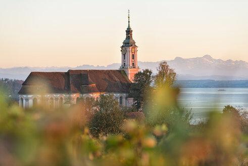 Germany, Baden-Wuerttemberg, Lake Constance, Birnau, baroque church at lakeshore - SHF001664
