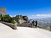 Italy, Sicily, Province of Trapani, Erice, Castello di Venere, Tourists - AM003286