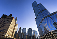 USA, Illinois, Chicago, view to Trump Tower from below - SMAF000267