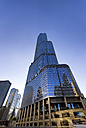 USA, Illinois, Chicago, view to Trump Tower from below - SMA000265