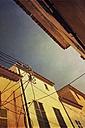 Spain, Majorca, Capdepera, houses and power lines - DWIF000304