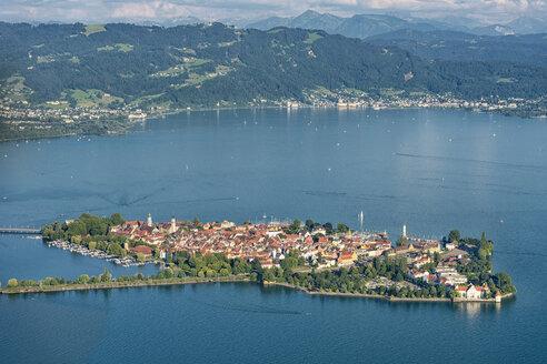 Germany, Bavaria, Lake Constance, Lindau, island and Pfaender - SHF001783