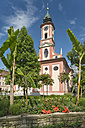 Germany, Baden-Wuerttemberg, Island Mainau, castle church with castle - SHF001790