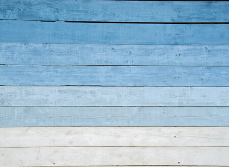 France, Detail of a blue wooden house wall - HLF000784