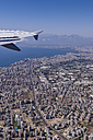 Turkey, Antalya, View to coastal city from plane - THAF001002