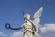 Germany, Mecklenburg-Vorpommern, Schwerin, Viktoria statue in castle garden - PVCF000242