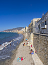 Italy, Sicily, Province of Trapani, Trapani, Old town, Beach and Via Mura di Tramontana Ovest - AMF003338