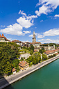 Switzerland, Bern, cityscape with minster and River Aare - WDF002759