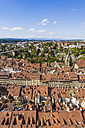 Switzerland, Bern, old town, cityscape from minster - WDF002741