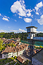 Switzerland, Bern, old town, River Aare and lift to minster platform - WDF002743