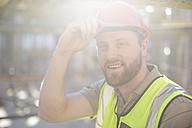 Portrait of smiling construction worker - ZEF001659