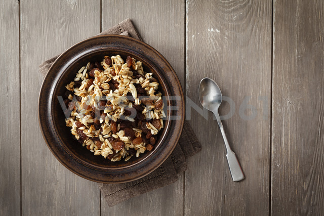 Plate of homemade granola - EVGF001408