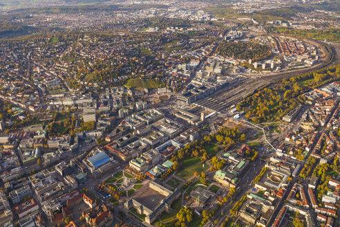 Germany, Baden-Wuerttemberg, Stuttgart, aerial view of city center - WDF002766