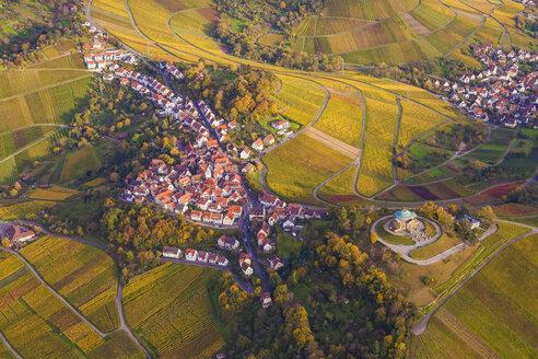Germany, Baden-Wuerttemberg, Stuttgart, aerial view of burial chapel on Wuerttemberg - WDF002777