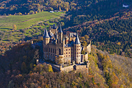 Germany, Baden-Wuerttemberg, aerial view of Hohenzollern Castle - WD002788