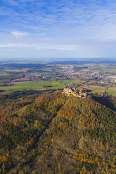 Germany, Baden-Wuerttemberg, aerial view of Hohenzollern Castle - WDF002790