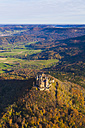 Germany, Baden-Wuerttemberg, aerial view of Hohenzollern Castle - WD002791