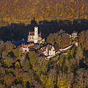 Germany, Baden-Wuerttemberg, aerial view of Lichtenstein Castle - WD002799