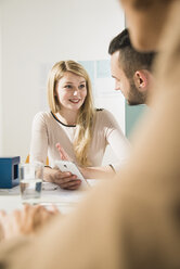 Young woman in a business meeting - UUF002821