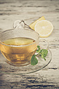 Fresh mint tea in glass cup - SARF001136