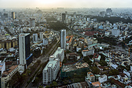 Vietnam, Ho Chi Minh City, cityscape seen from Bitexco Financial Tower - WEF000307