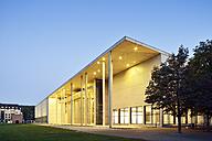 Germany, Bavaria, Munich, Pinakothek der Moderne at blue hour - BRF000885