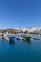 Spain, Canary Islands, Lanzarote, fishing harbor and coastal village Puerto Del Carmen - AMF003432