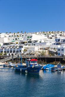 Spain, Canary Islands, Lanzarote, fishing harbor and coastal village Puerto Del Carmen - AMF003433