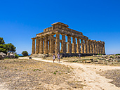 Italy, Sicily, Province of Trapani, Selinunt, view to temple E - AMF003450