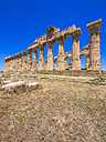Italy, Sicily, Province of Trapani, Selinunt, view to temple E - AMF003448