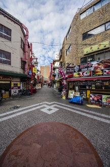 Japan, Kobe, pedestrian area with buildings - THAF001056