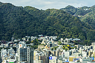 Japan, Kobe, cityscape with mountain - THAF001057
