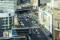 Japan, Kobe, traffic in downtown - THAF001060
